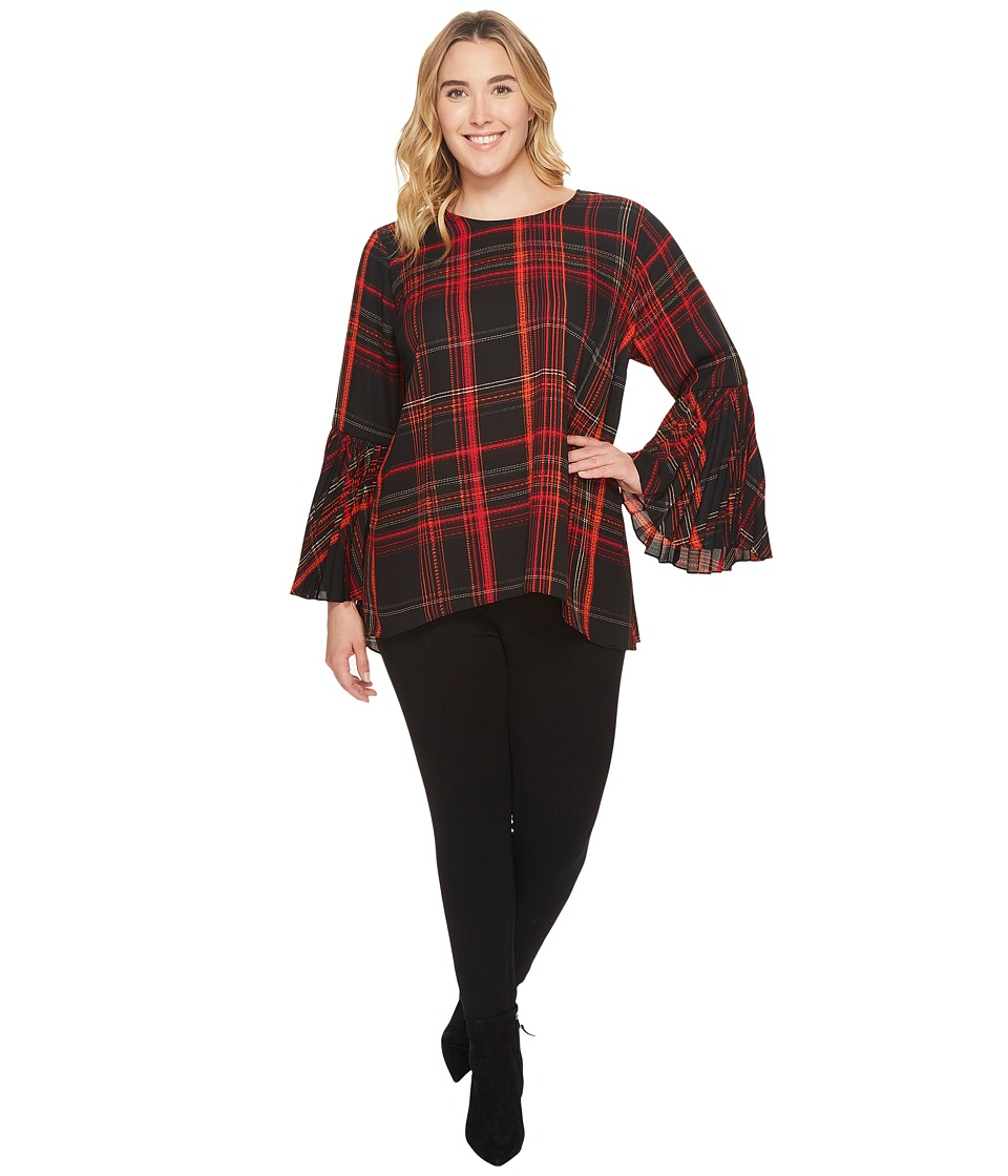 Vince Camuto Specialty Size - Plus Size Pleated Bell Slee...