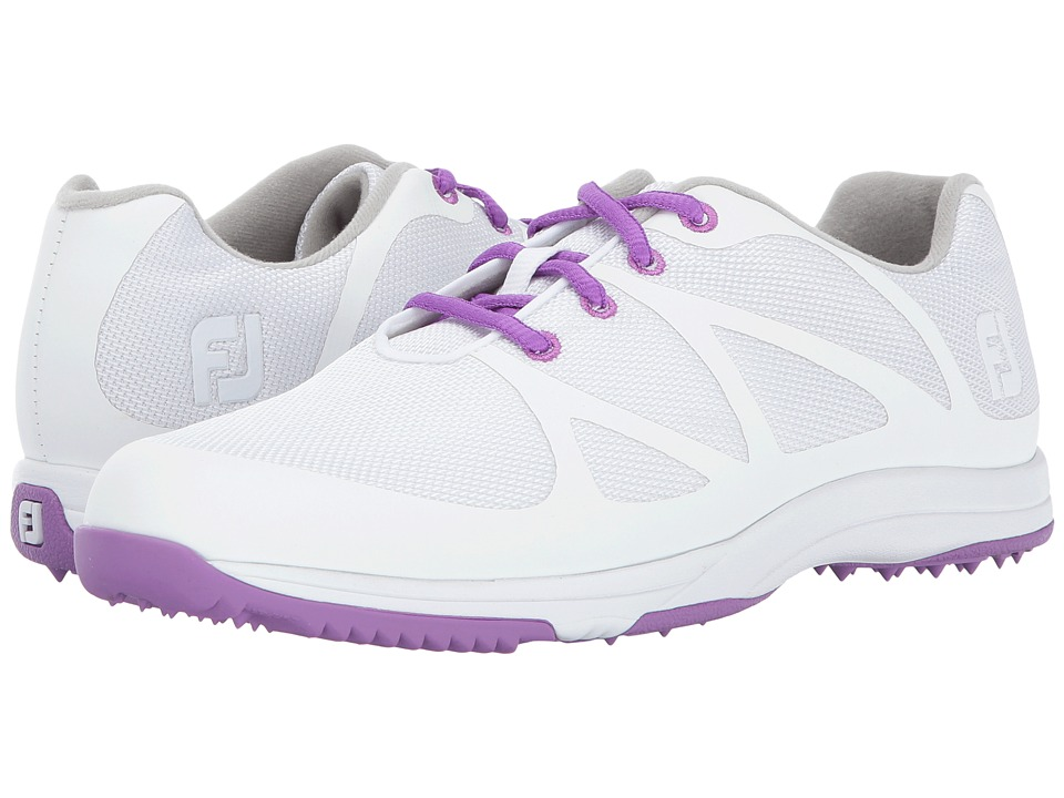FootJoy FJ Leisure (White/Purple) Women's Golf Shoes