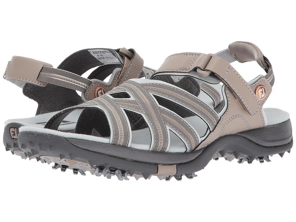 FootJoy Golf Specialty (Tan/Light Grey Sandal) Women's Go...