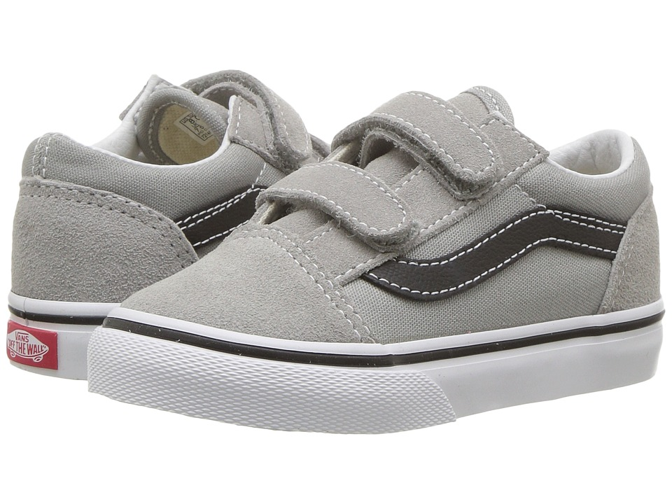 Vans Kids - Old Skool V (Toddler) (Drizzle/Black) Boys Shoes