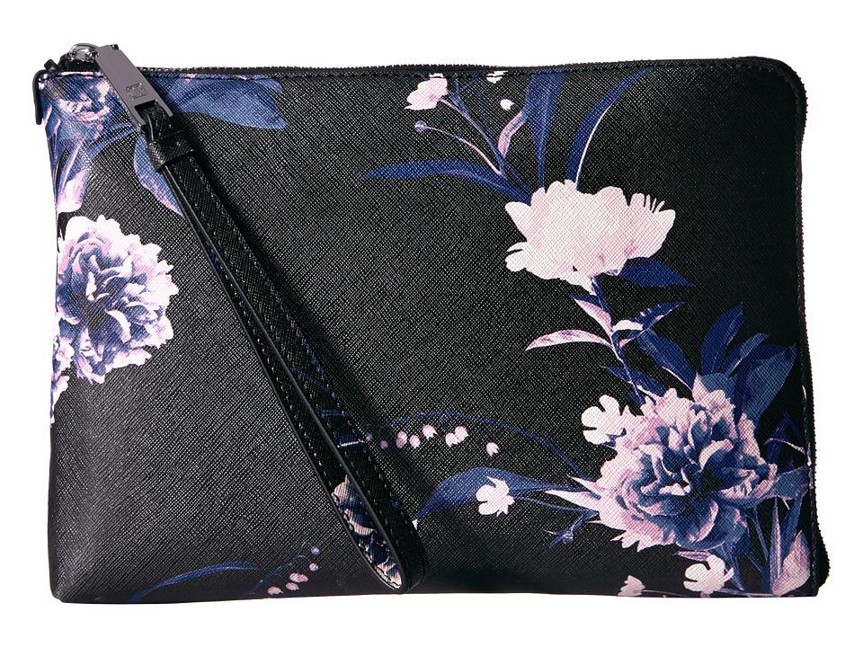 Ivanka Trump - Rio Tech Sleeve - Floral Print (Black) Handbags