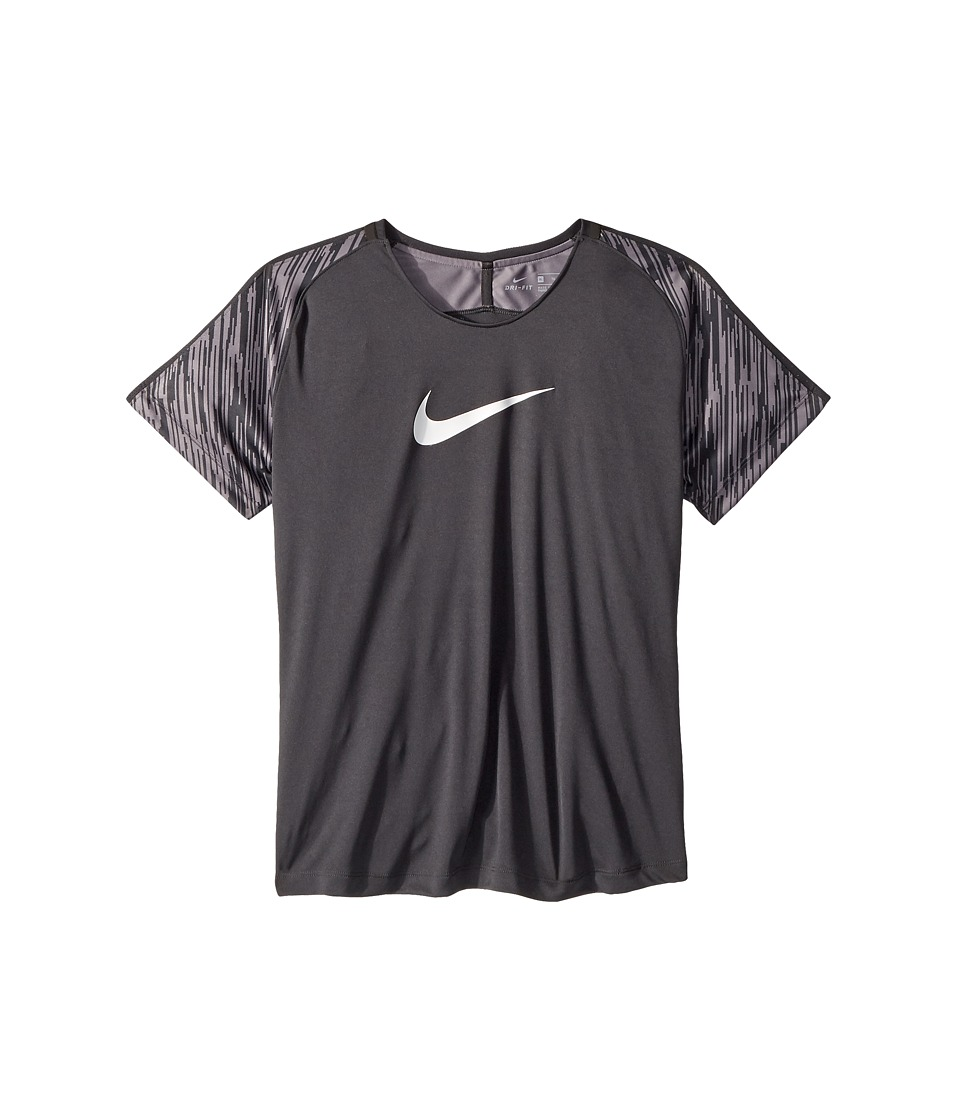 Nike Kids - Dry Academy Short Sleeve Soccer Top (Little Kids/Big Kids) (Anthracite/Anthracite/White) Girls Clothing