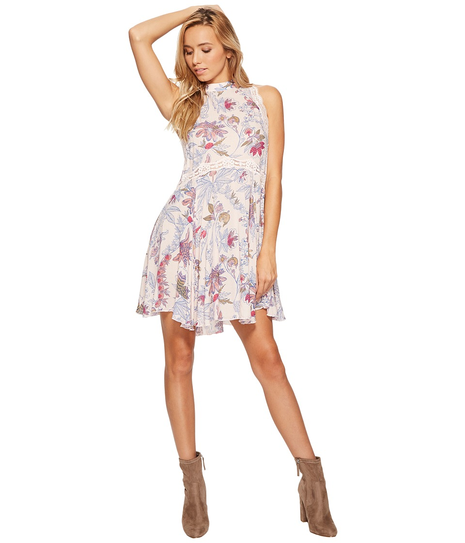 Free People Printed She Moves Slip (Ivory Combo) Women