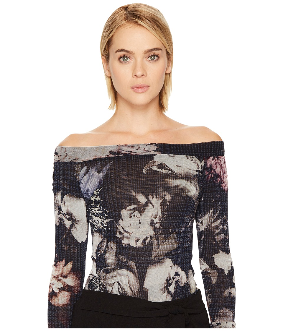 FUZZI - Long Sleeve Off the Shoulder Top Cover-Up