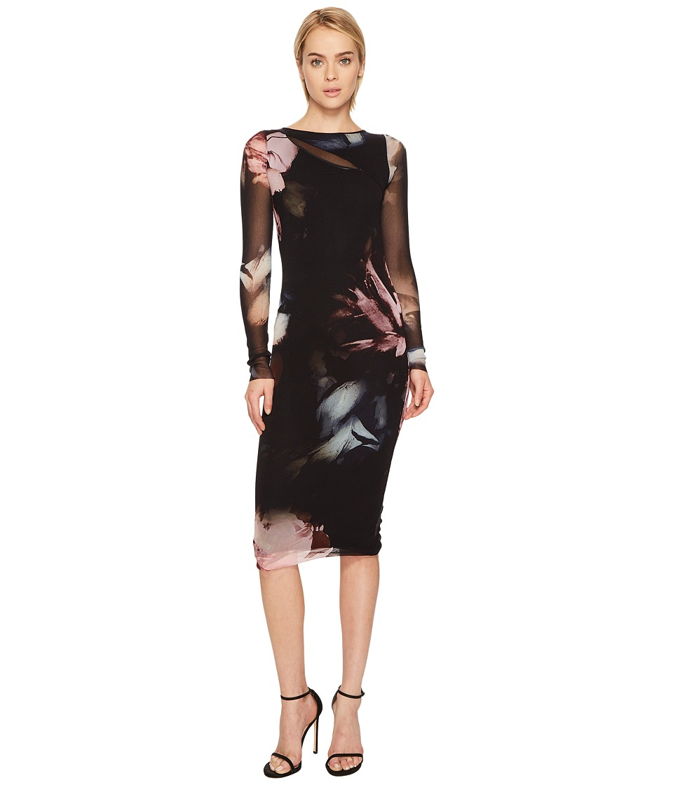 FUZZI - Long Sleeve Fitted Printed Cover-Up