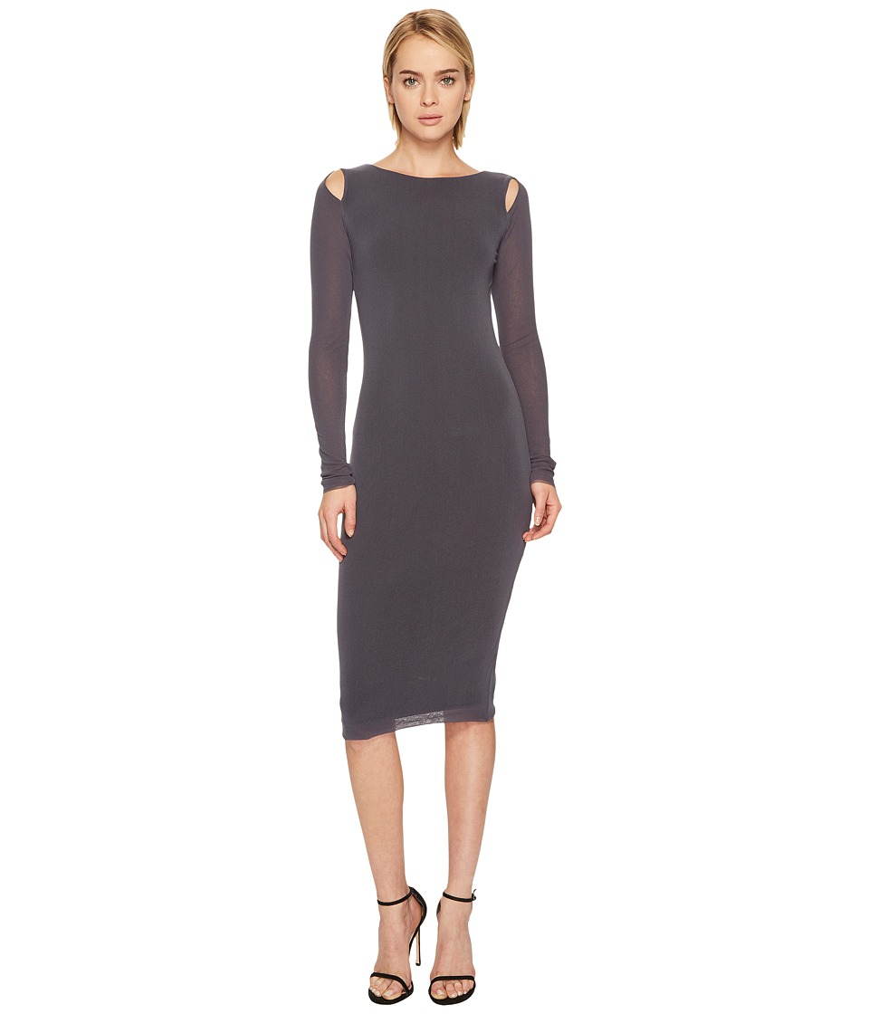 FUZZI - Cut Out Shoulder Solid Dress Cover