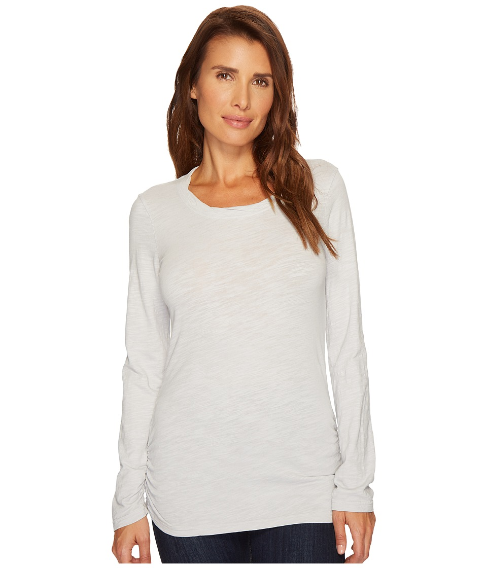 Mod-o-doc - Slub Jersey Long Sleeve Twisted Scoop Neckline Tee (Oyster) Womens T Shirt