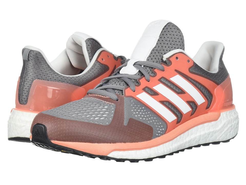adidas Running - Supernova Stability (Grey Three/Footwear White/Chalk Coral) Womens Running Shoes