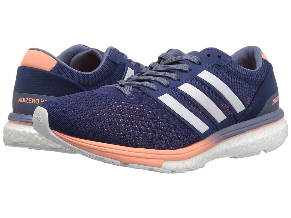 Image of adidas Running - adiZero Boston 6 (Noble Indigo/Footwear White/Raw Steel) Women's Running Shoes