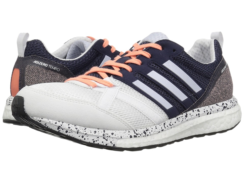 adidas Running adiZero Tempo 9 (Footwear White/Aero Blue/Core Black) Women's Running Shoes