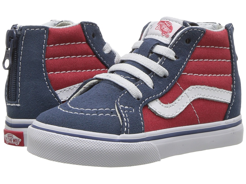 Vans Kids - Sk8-Hi Zip (Toddler) ((Tri Pop) Indigo/Rococco Red) Boys Shoes