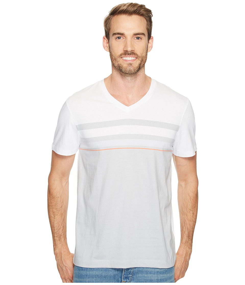 Calvin Klein Short Sleeve Allover Engineer Stripe Tee (White Wash) Men