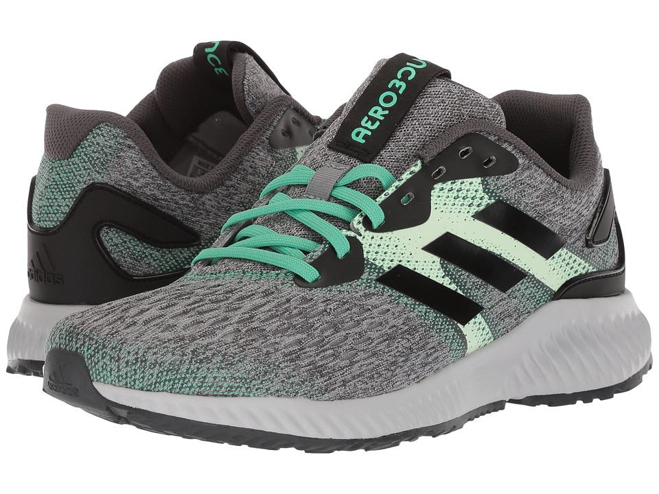 adidas Running Aerobounce (Core Black/Aero Green/Hi-Res Green) Women's Running Shoes
