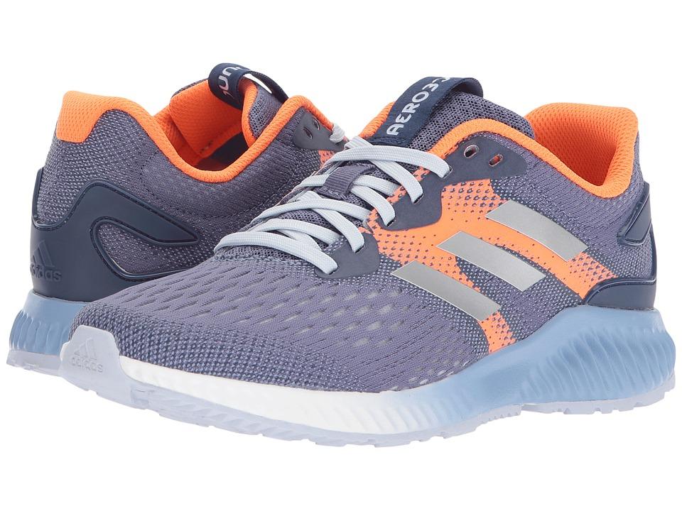 adidas Running Aerobounce (Raw Indigo/Silver Metallic/Hi-Res Orange) Women's Running Shoes