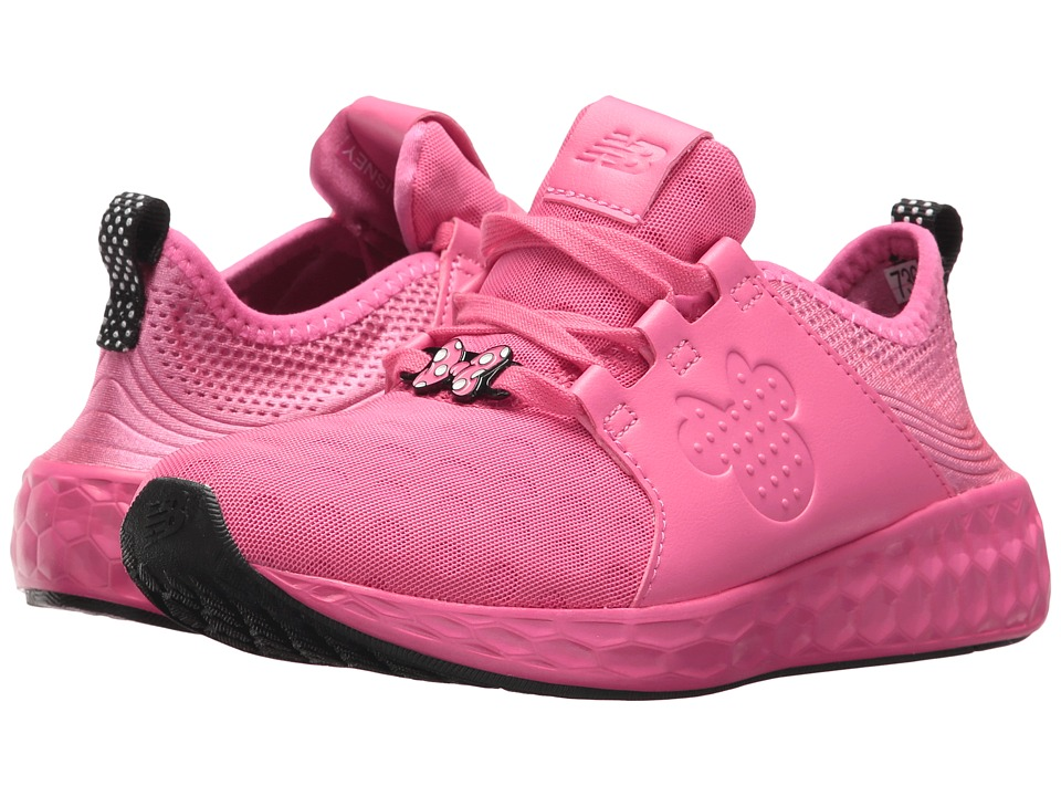 New Balance Kids - KJCRZv1P - Minnie Rocks the Dots (Little Kid) (Pink/Black) Girls Shoes