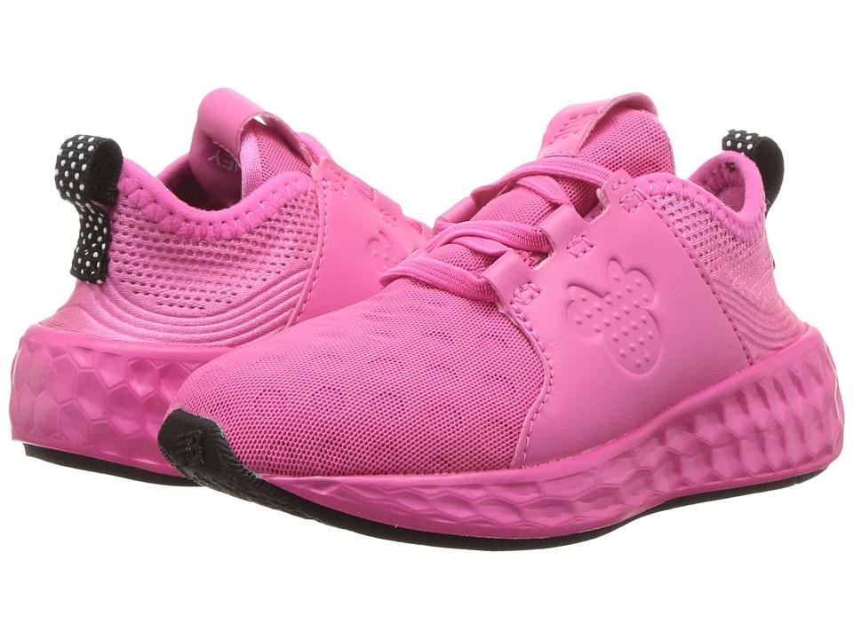 New Balance Kids - KVCRZv1I - Minnie Rocks the Dots (Infant/Toddler) (Pink/Black) Girls Shoes