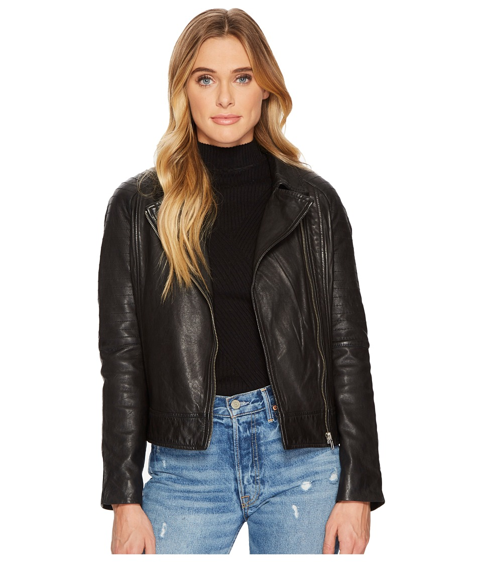 BB Dakota - Harwick Leather Moto Jacket (Black) Womens Coat