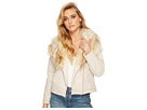 BB Dakota Claver Faux Fur Trim Jacket