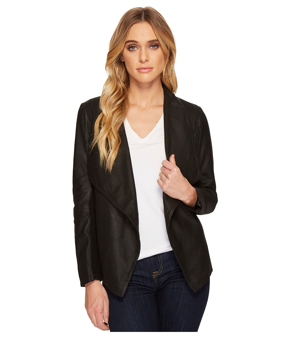 BB Dakota - Rowe Drape Front Leather Jacket