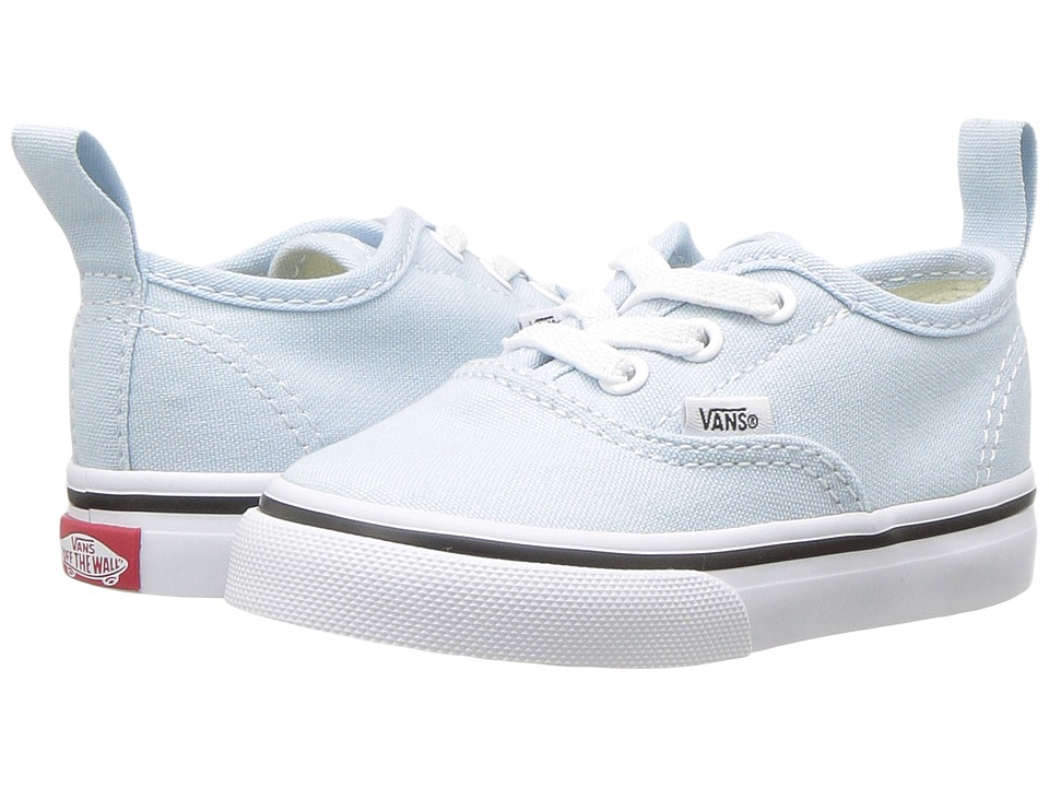 Vans Kids Authentic Elastic Lace (Toddler) (Baby Blue/True White) Girls Shoes