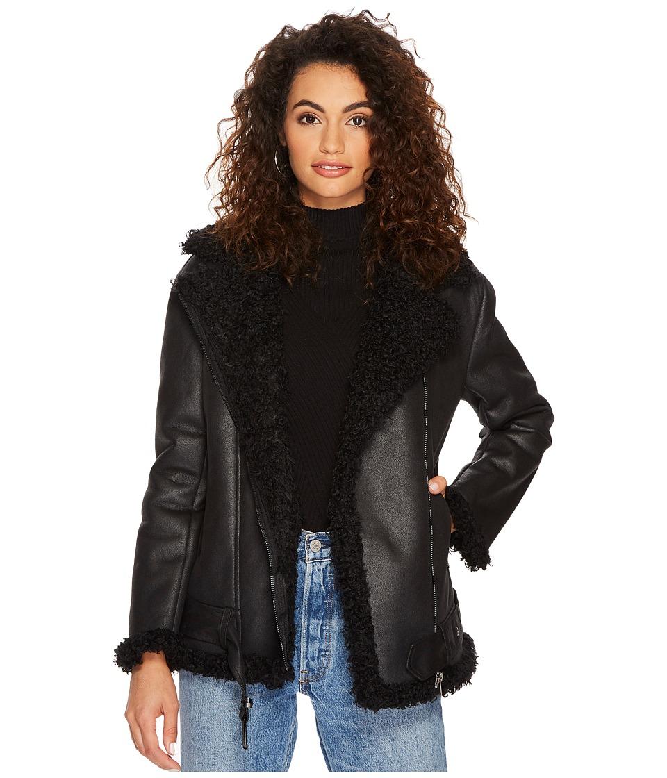 Dakota Bosworth Shearling Lined Jacket (Black) Women's Coat