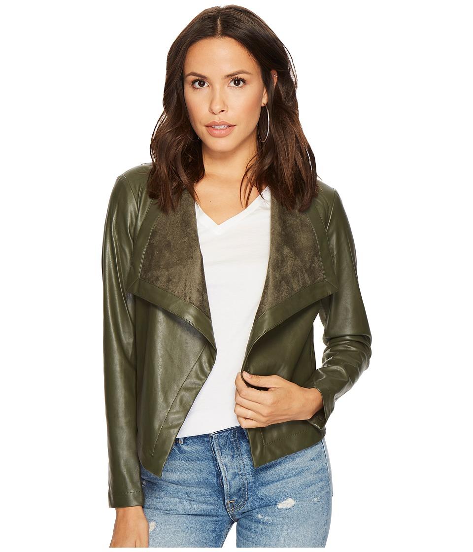 BB Dakota - Gracelyn Drape Front Jacket (Olive) Womens Coat