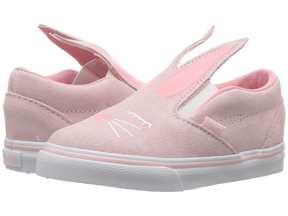 Vans Kids Slip-On Bunny (Toddler) (Chalk Pink/True White) Girls Shoes