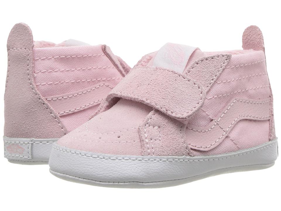 Vans Kids SK8-Hi Crib (Infant/Toddler) (Chalk Pink/True White) Girls Shoes