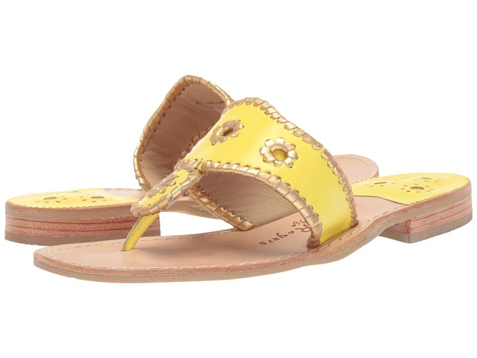 Jack Rogers - Hollis (Lemon Chiffon/Gold) Women's Sandals