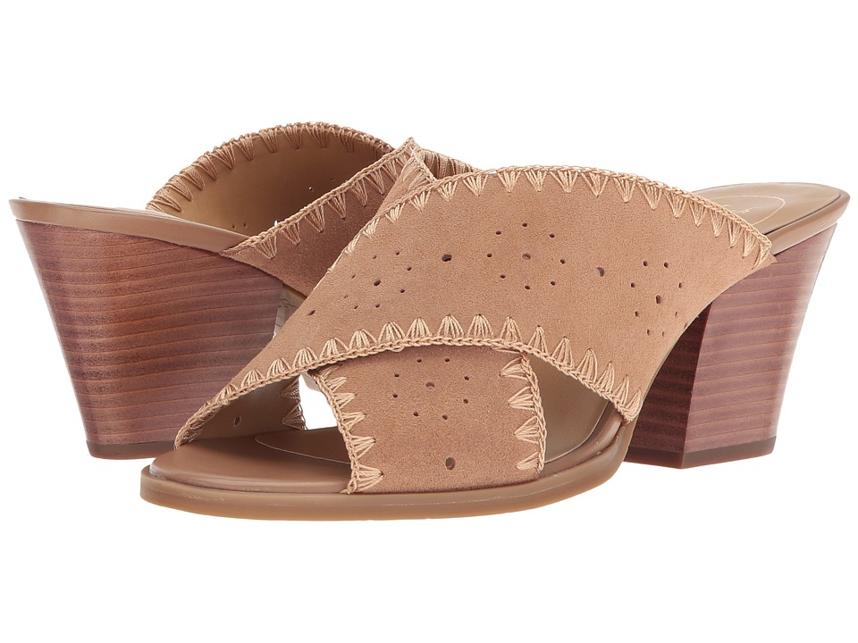 Jack Rogers - Blakely (Oak Suede) Women's Toe Open Shoes