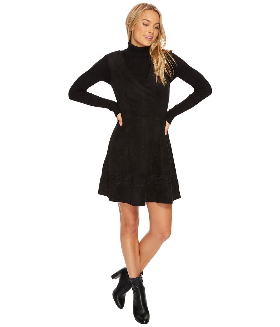 BB Dakota - Lynne Faux Suede Fit Flare Dress