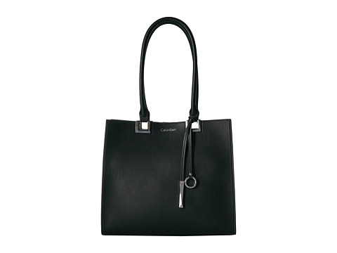 Calvin Klein North/South Boxed Tote - Black/Grey