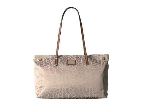 Calvin Klein Key Item East/West Logo Tote - Champagne