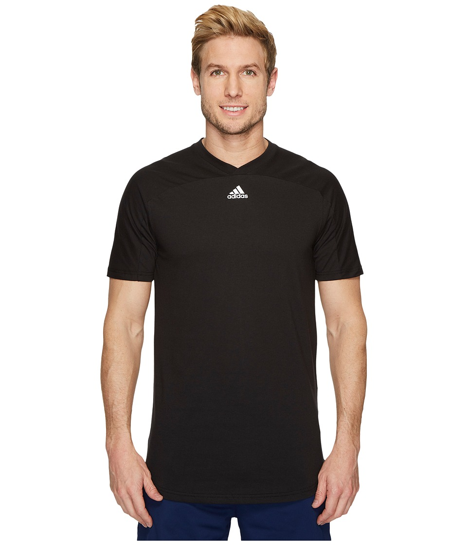 adidas Sport ID Scoop Tee (Black) Men
