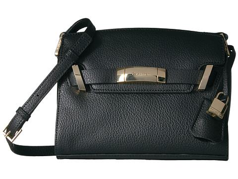Calvin Klein Brooke Leather Crossbody - Black/Gold