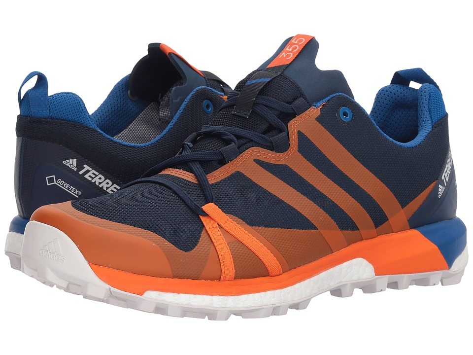 adidas Outdoor - Terrex Agravic GTX(r) (Collegiate Navy/Orange/Blue Beauty) Mens Shoes