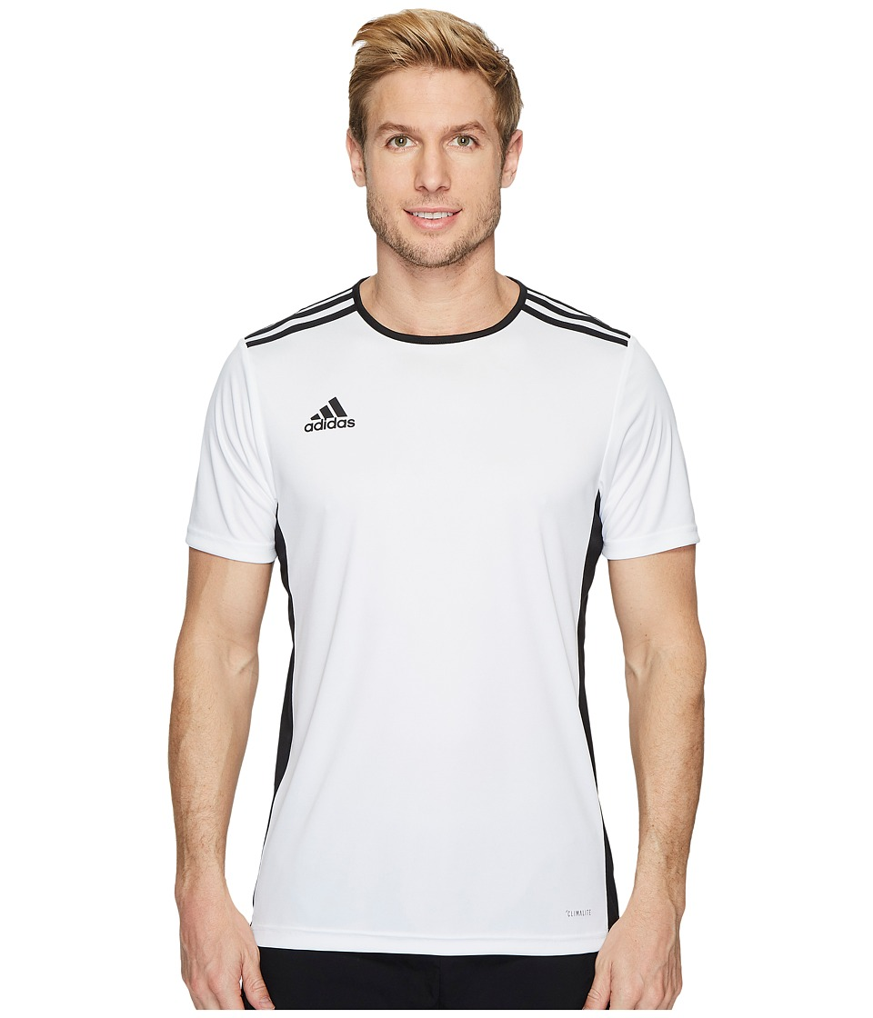 adidas - Entrada 18 Jersey (White/Black) Mens Clothing