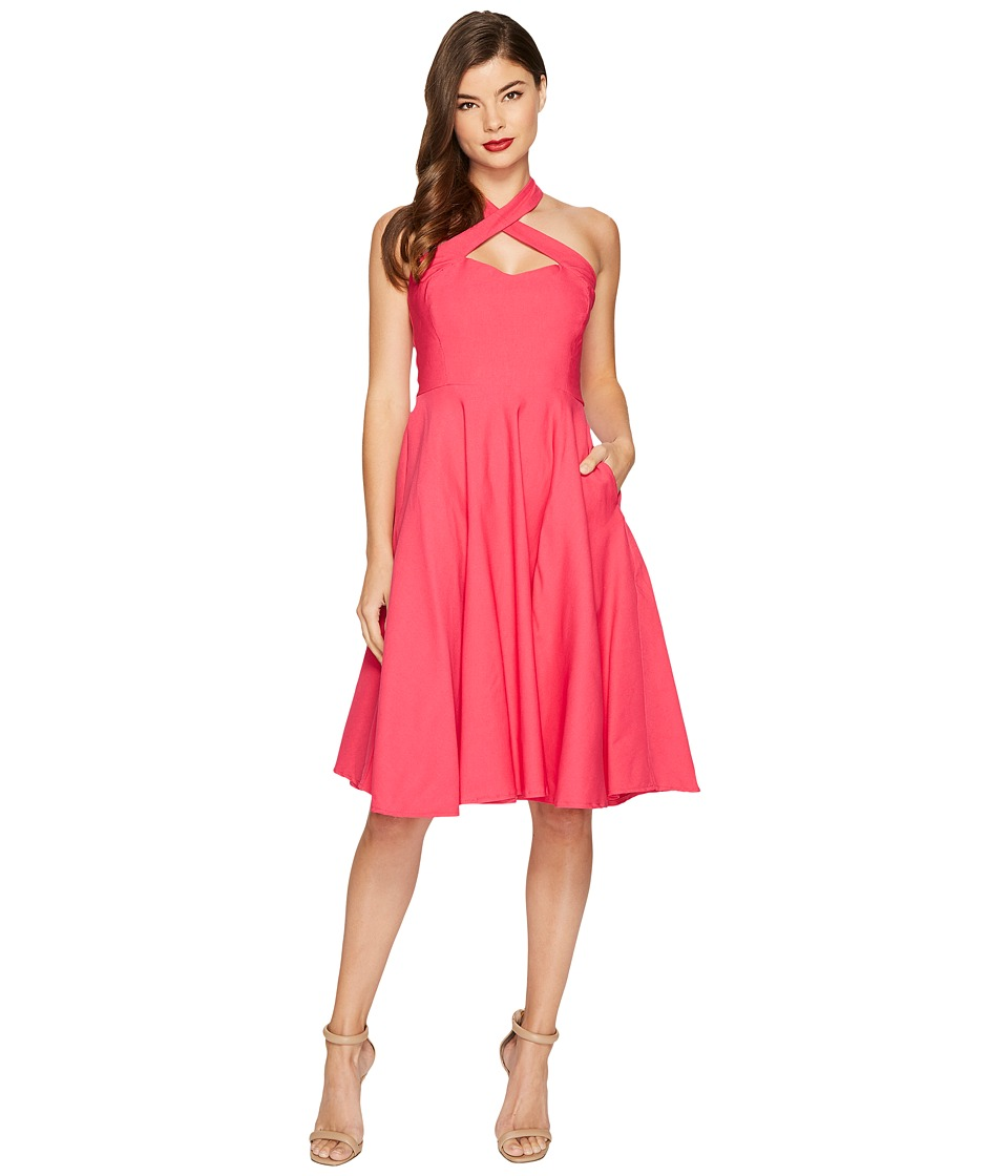 Unique Vintage Rita Flare Dress (Pink) Women
