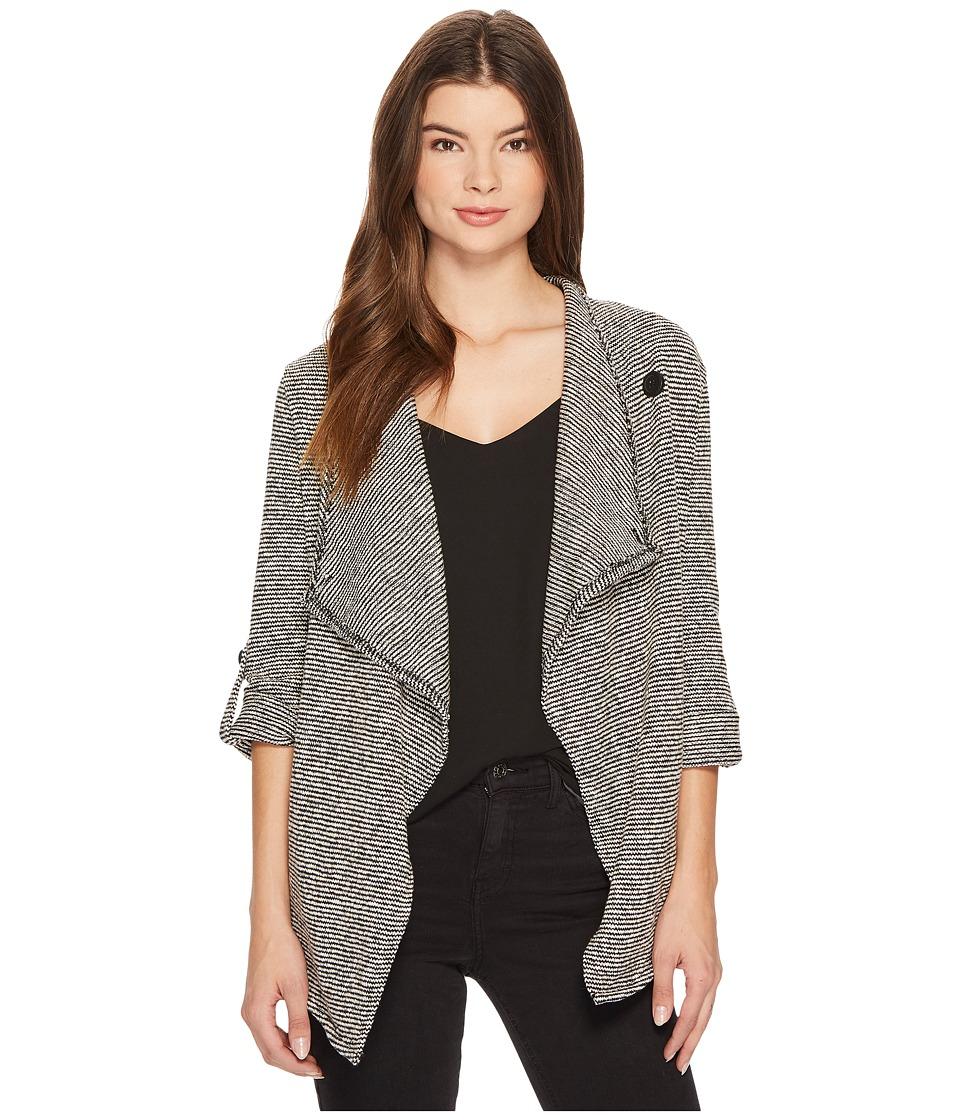 BB Dakota - Borden Striped Knit Jacket (Dirty White) Womens Coat