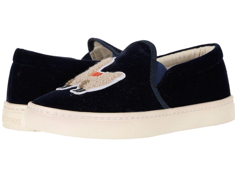 Soludos Velvet Llama Sneaker (Navy) Women