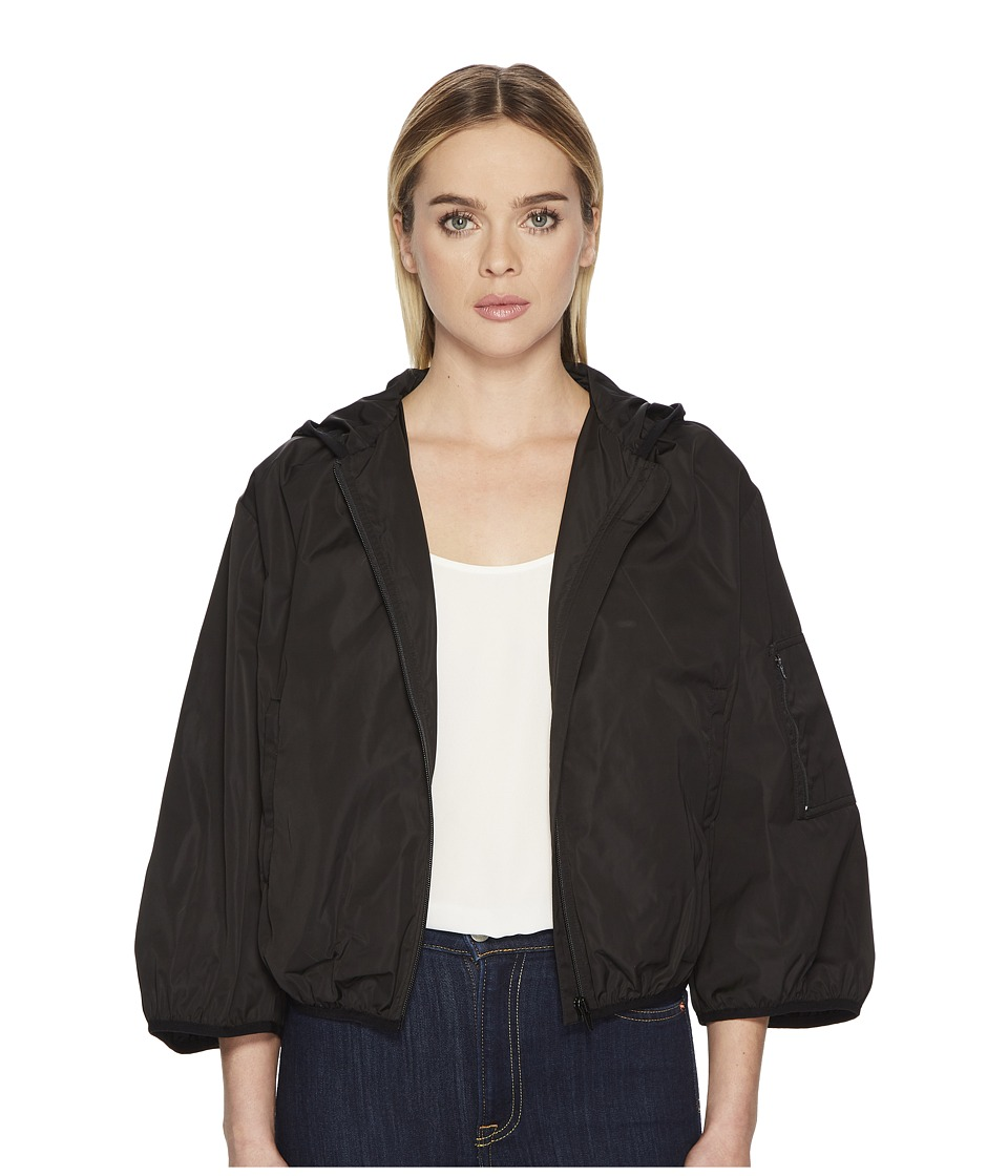 RED VALENTINO - Taffetas Tech Bomber (Black) Womens Coat