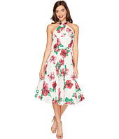 Unique Vintage - Halter Flora Swing Dress