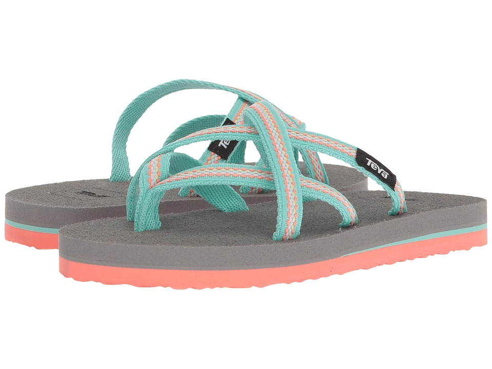 Teva Kids - Olowahu (Little Kid) (Lindi Sea Glass/Coral) Girls Shoes