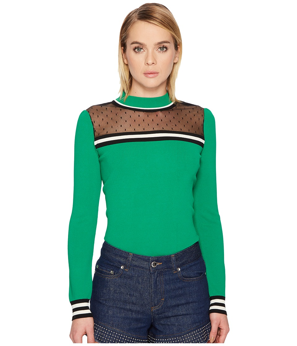 Valentino Stretch Viscose Pullover with Point D'Esprit (G...