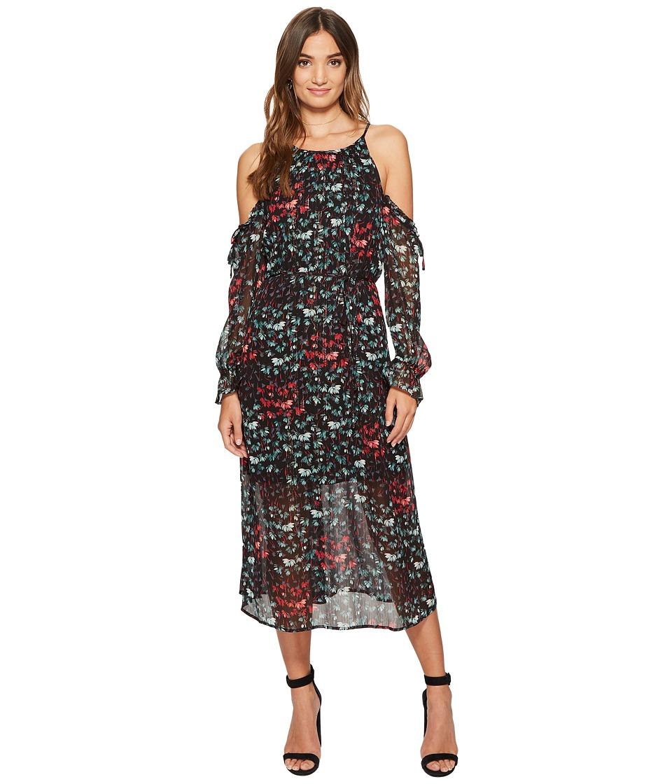 1.STATE - Halter Neckline Cold Shoulder Maxi Dress