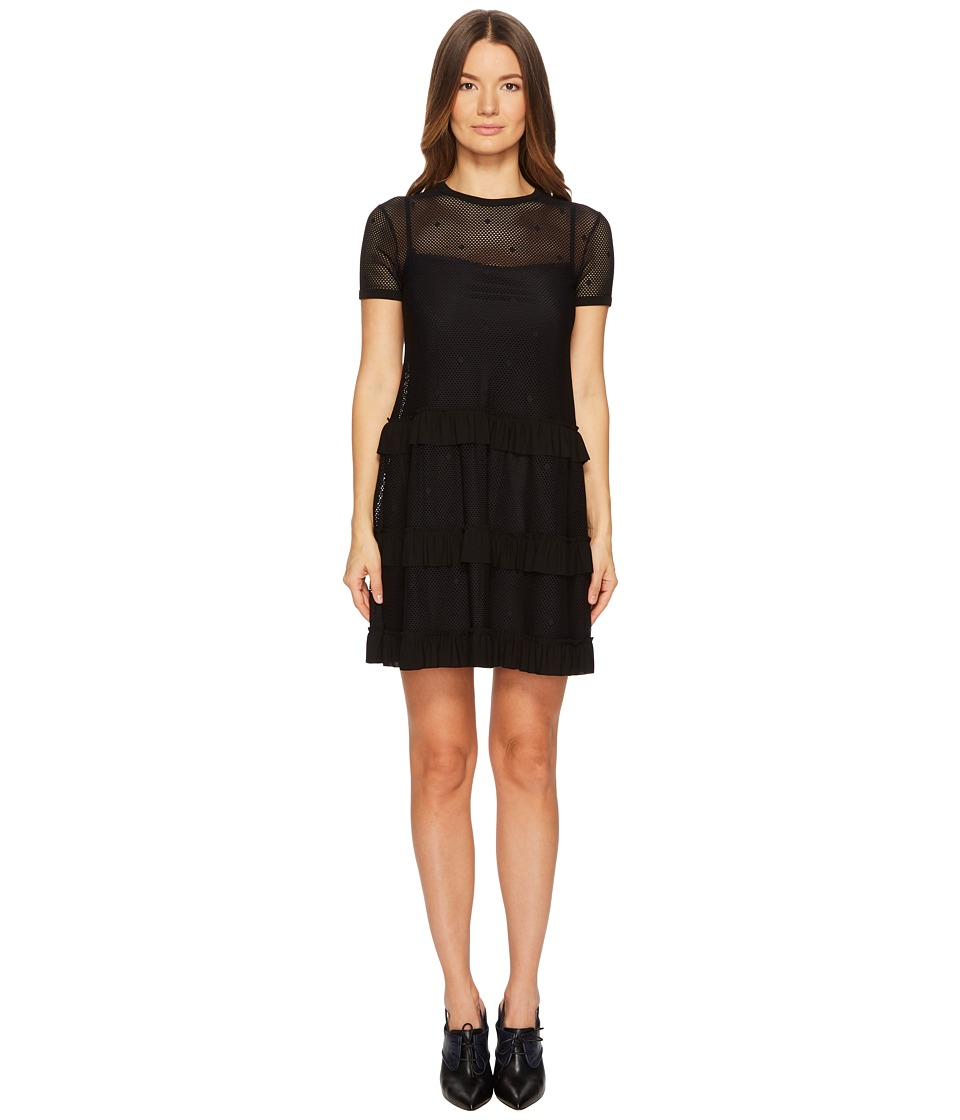 Valentino Jersey Mesh Dress (Black) Women's Dress