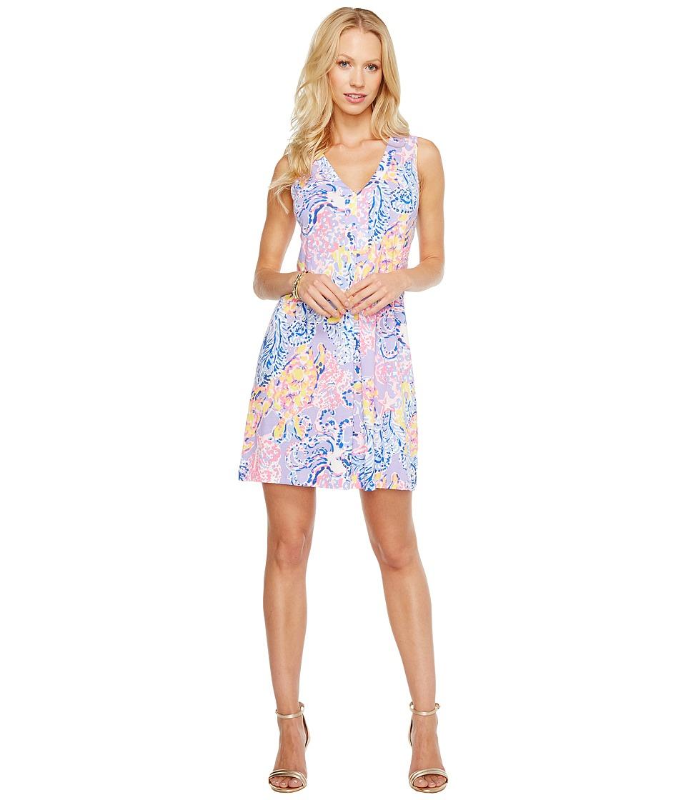 Lilly Pulitzer Amina Dress (Lilac Verbana So Snappy) Women