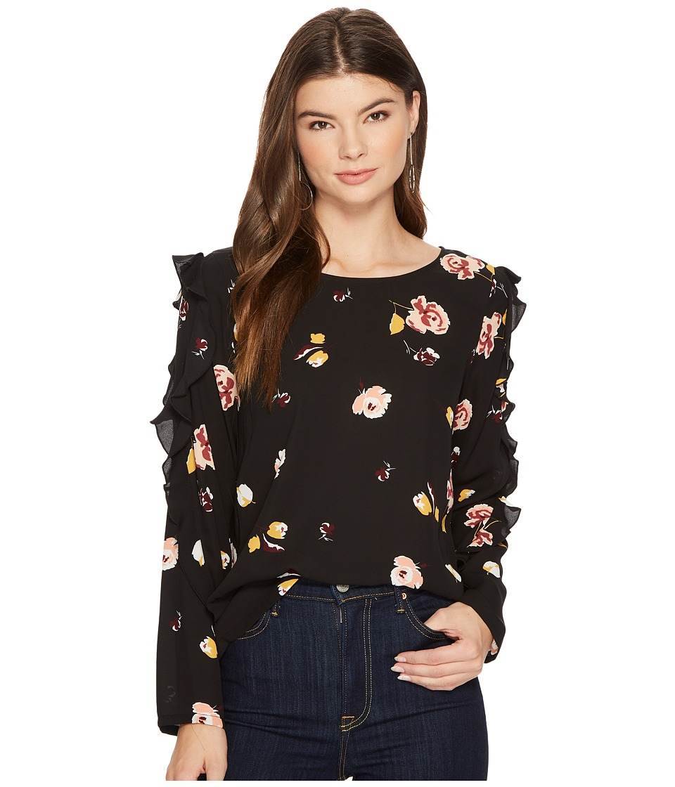 1.STATE - Long Sleeve Blouse w/ Ruffle Sleeve Detail