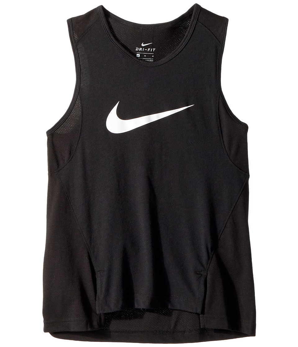 Nike Kids - Dry Elite Basketball Tank (Little Kids/Big Kids) (Black/White) Girl's Sleeveless