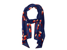 Vince Camuto - Painted Flower Skinny Bias Scarf